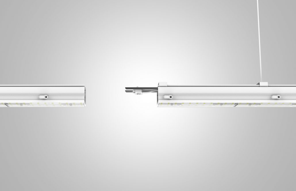 Linear Trunking rail can be connected with each other easily.