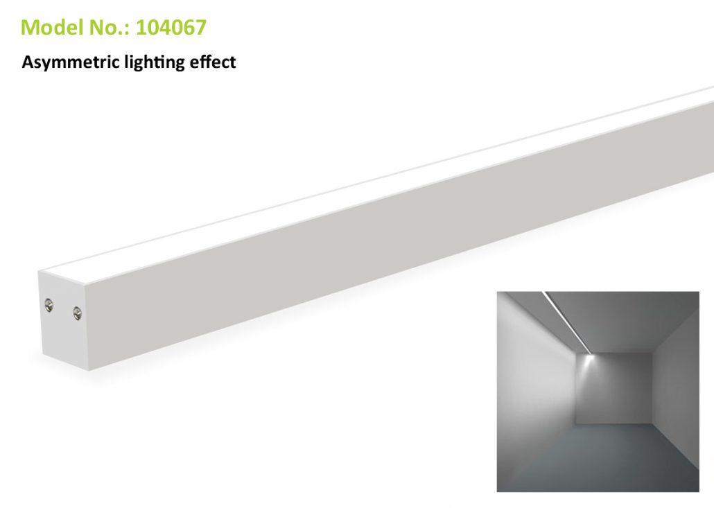 Asymmetric Linear Light 104067, 40W, 40x67mm