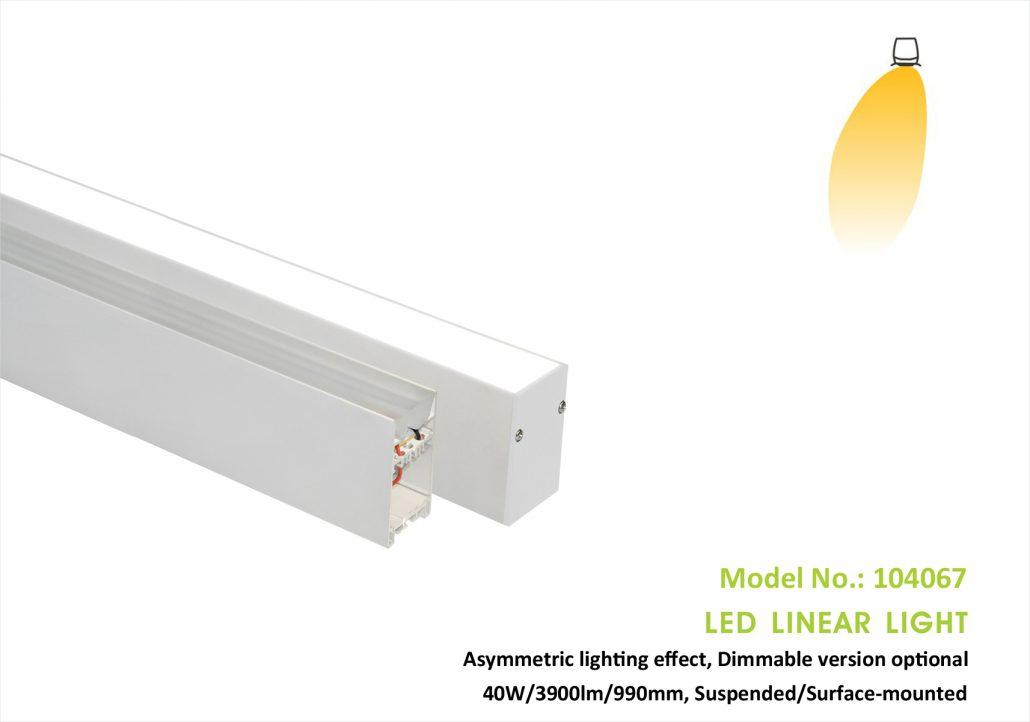 Wall-washing effect Asymmetric Linear light 104067P,40w,40x67mm