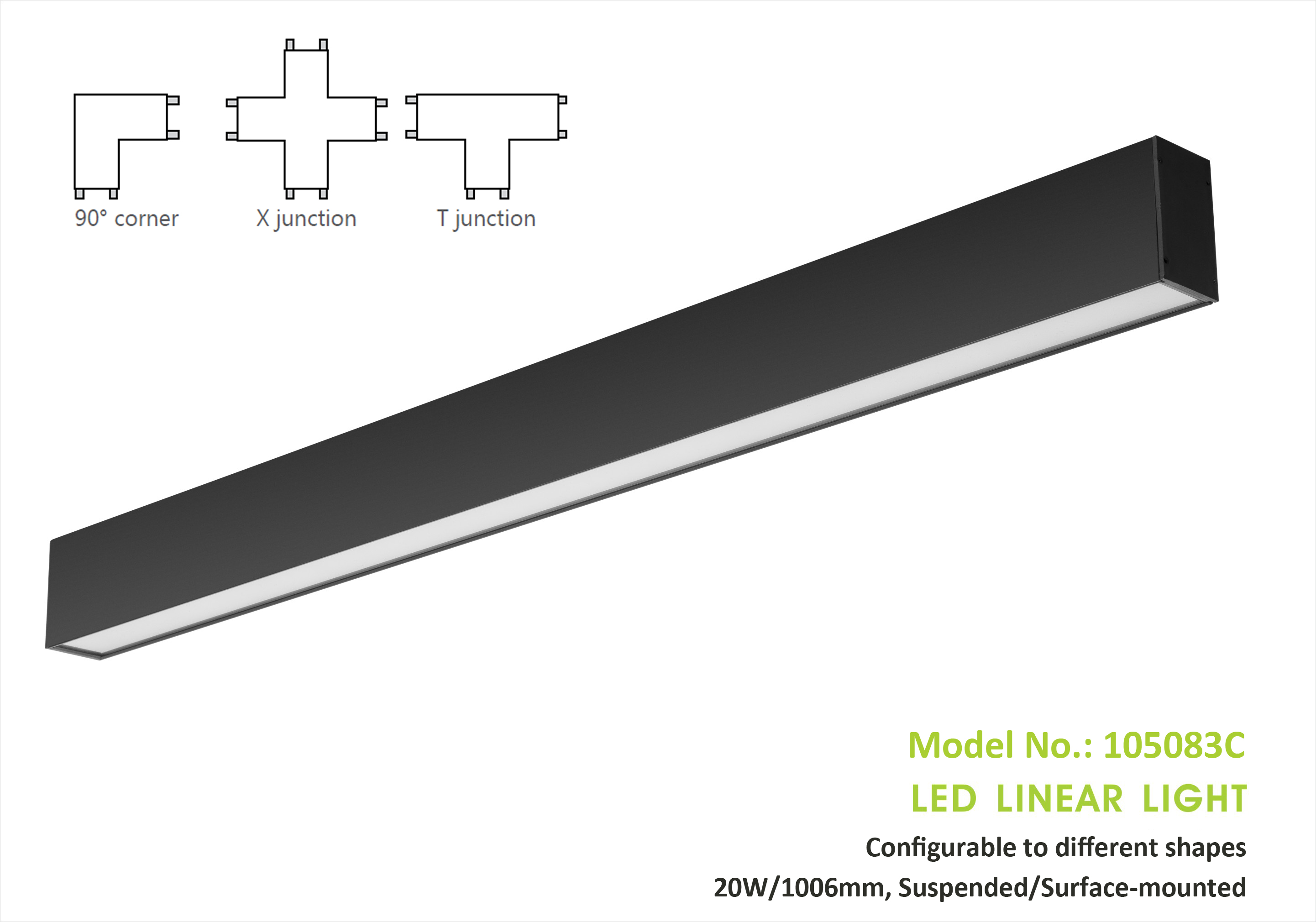 Configurable Linear Light 105083, 20W/1006mm