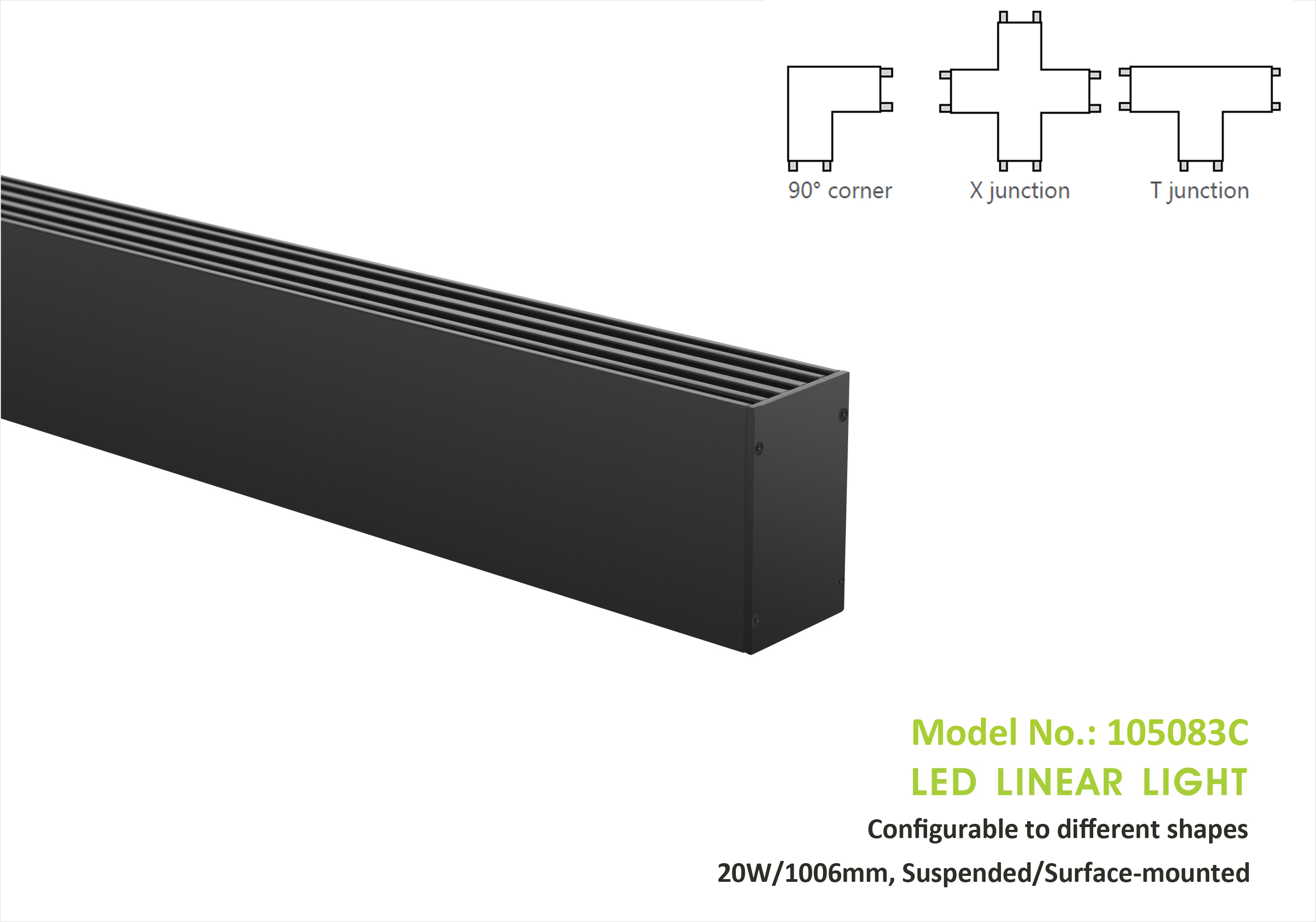 Connectable Linear Light 105083, 20W/1006mm