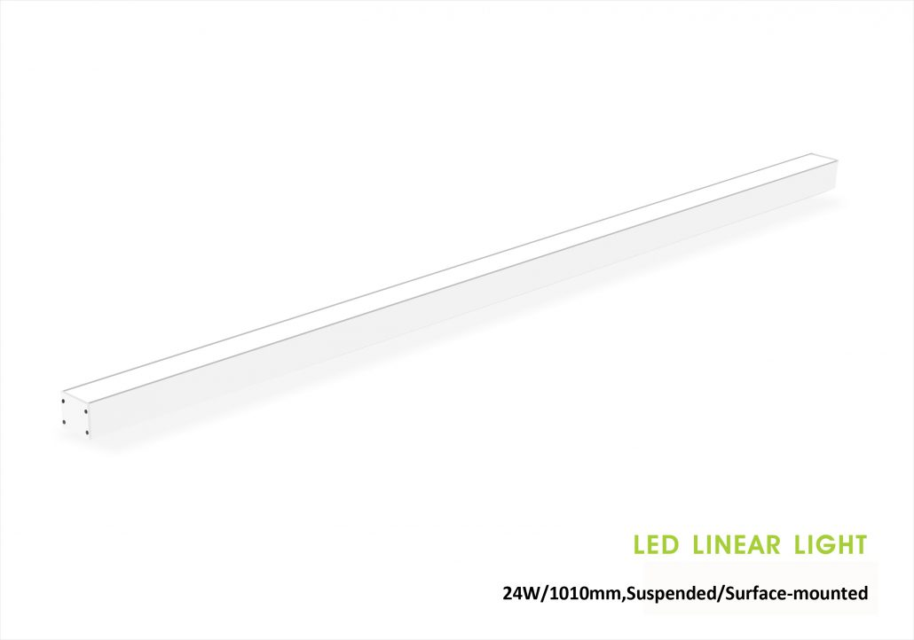 35x35mm Led Linear light 24W trimless, Suspended/pendant, or Surface-mounted