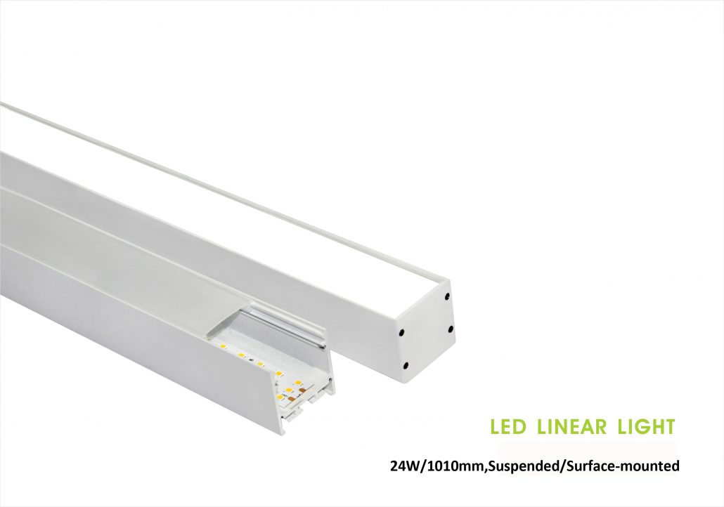 35x35mm Rigid Aluminium Led strip light 24W trimless, Suspended/pendant, or surface-mounted