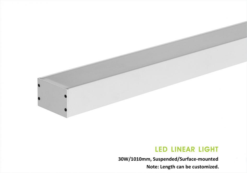 Suspended/pendant, or Surface-mounted rigid Led linear light 104932, 30W