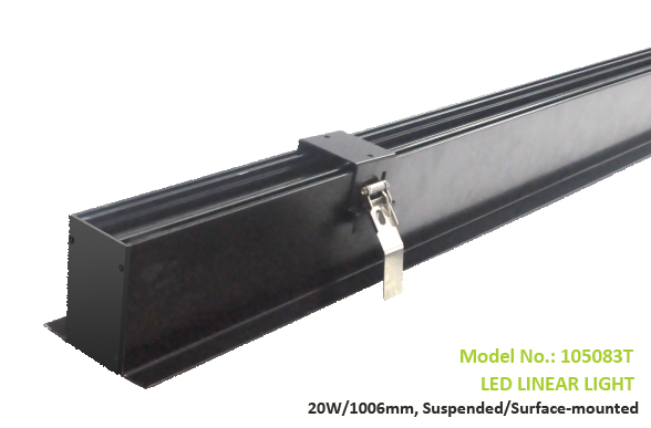 Recessed or Flush-mounted Led Linear light,24W, 49x35mm